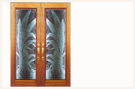 doors sarasota florida etched banana plant