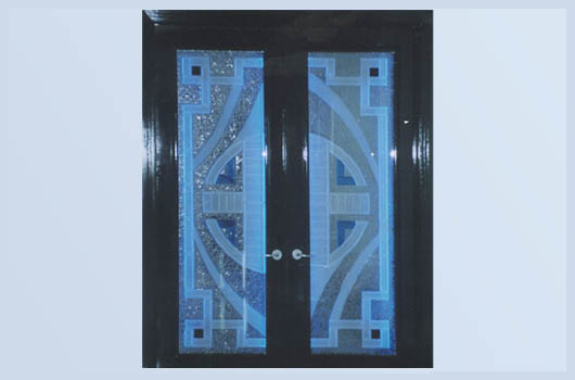 doors sarasota florida neon blue glass entrance