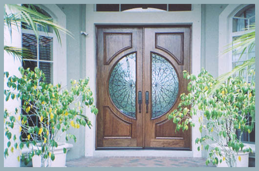doors sarasota florida glass etched palms