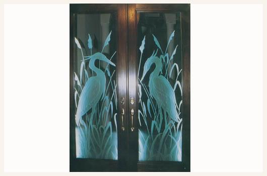 doors sarasota florida etched egrets